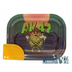 Metall Rolling Tray AK47 Small Size 18 x 14,5 x 1,8 cm