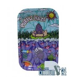 Metall Rolling Tray Purple Haze Medium Size 27,5 x 17,5 x 2 cm