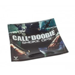 Call of Doobie Glas Ashtray Mixtray 11x11x2 cm