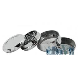 Champ High 4-tlg. Kunststoff-Grinder 63 mm Silver