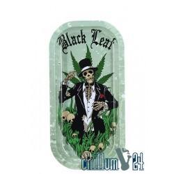 Black Leaf Rolling Tray Hempmaster 20,6 x 10,4 cm