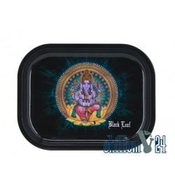 Black Leaf Rolling Tray Ganesha 18 x 14 cm