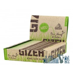 Box 25x Gizeh Bio-Hanf King Size Slim Extra Fine 34 Blatt