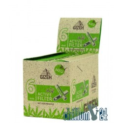 Box 20x Gizeh Bio-Hanf Aktivkohlefilter Slim 6 mm 10 Stk.