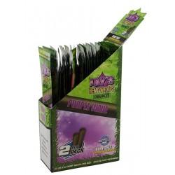 Box 25x Juicy Hemp Enhanced Wraps 2x Purple Wave