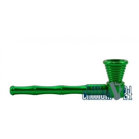 Schraubpfeife Aluminium Green 11 cm