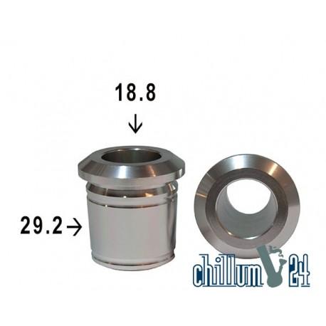 Alu Schliff-Adapter 29.2 -18.8