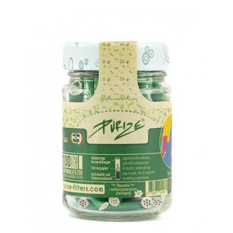 PURIZE Xtra Slim Green Aktivkohlefilter 100er