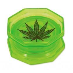 Leaf Acryl Grinder 2-teilig 55mm grün