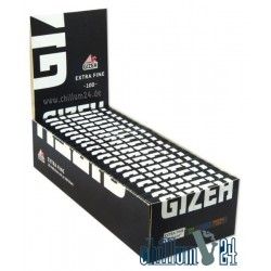 Box mit 20 Heftchen GIZEH BLACK Extra Fine 100 Blatt