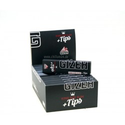 Box 25x Gizeh Black King Size Slim Extra Fine ink. Tips