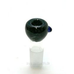 Glassteckkopf 18,8er schwarz