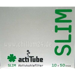 Box 10x ActiTube Aktivkohlefilter SLIM 6,9 mm 50er Pack