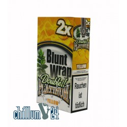 Box Yellow 25 BLUNT WRAPs PLATINUM 2er Pack