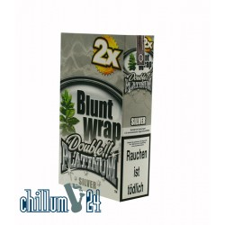 Box Silver 25 BLUNT WRAPs PLATINUM 2er Pack