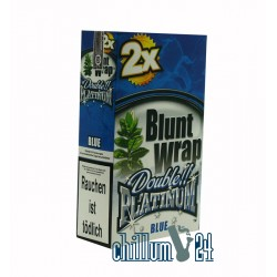 Box  Blue 25 BLUNT WRAPs PLATINUM 2er Pack