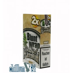 Box Ivory 25 BLUNT WRAPs PLATINUM 2er Pack