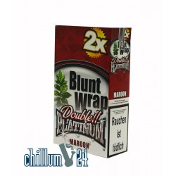 Box Maroon 25 BLUNT WRAPs PLATINUM 2er Pack