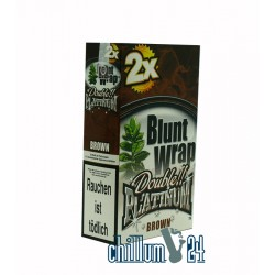 Box Brown 25 BLUNT WRAPs PLATINUM 2er Pack