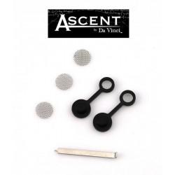 Ascent Vaporizer Zubehör Metallpick, 3 Siebe, Deckel für Mundstücke