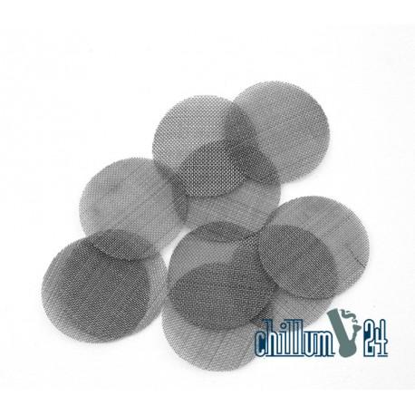 Große Stahl Einlegesiebe ca. 25 mm, fein 10er Pack