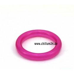 Acryl Mundstück 58mm fluor pink