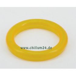 Acryl Mundstück 58mm fluor gelb