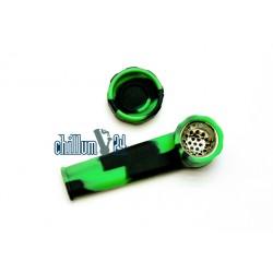 Jelly Joker Silikon-Handpfeife schwarz-grün 8,5cm