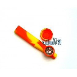 Jelly Joker Silikon-Handpfeife Gelb-Orange 12cm