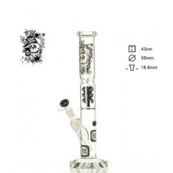 Dope Bros Glass Skull Ice mit Spiralpercolator 43cm