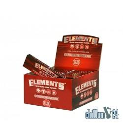 24er Box Elements Red K.S.Slim 32 Slow Burn Hemp Papers + Tips