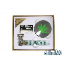 Dreamliner Geschenkset mit Pfeife und Grinder Leaf