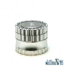Dreamliner 4-tlg Alu Grinder Mechanic Design 62mm silver