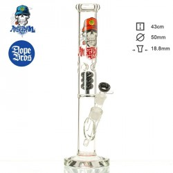 Dope Bros Glass Skull Ice mit Spiralpercolator 43cm Amsterdam red