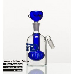 Grace Glass Shower Precooler 14.5er 16cm blue