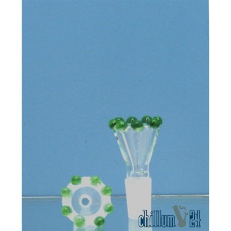 Glassteckkopf Flutsch Krone 14,5er grün