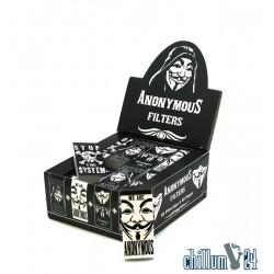 Box Anonymous 40 Booklets mit je 40 Blatt perforierten Filtertips 54 x 24 mm