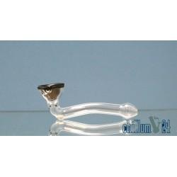 Glaspipe Spiral 11cm Black