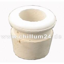Dichtungsgummi f. Chillum, trichterförmig, weiß