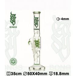 Bong Glass Easy Spiralpercolator 35cm green