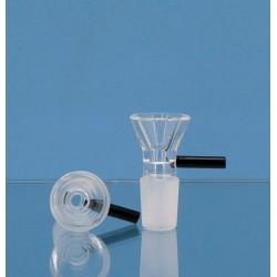 Black Leaf Glassteckkopf Flutsch 18,8er Schliff mit Henkel schwarz