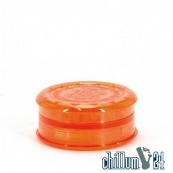 Amsterdam Kunstoff-Grinder mit Vorratsfach 6cm Orange