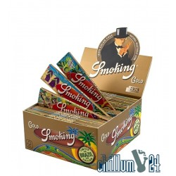 "Box 50x Smoking Gold King Size Slim Limited Edition ""Brazil"""