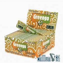 Box mit 50x Greengo King Size Slim Paper Unbleached