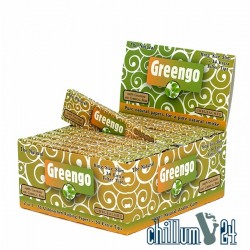 Box mit 24x Greengo King Size Slim mit Tips Unbleached