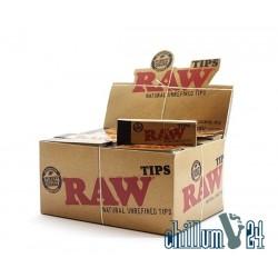 Box Raw ungebleichte Filtertips 1,8 x 6cm, 50 Tips