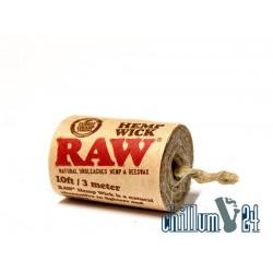 RAW Hemp Wick 3m Rolle