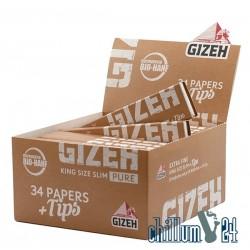 GIZEH Pure KingSizeSlim + Tips Box