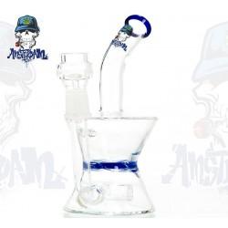 Bong Glass Amsterdam Blue für Öle und Wachse 18cm