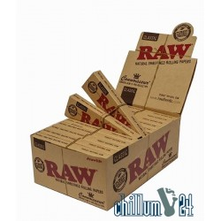 Box 24x Raw Connoisseur KS Slim Papier + Pre-Rolled Tips